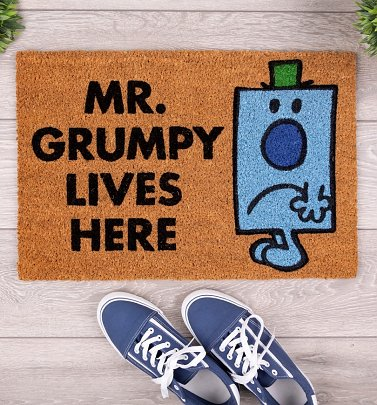 Exclusive Mr Grumpy Lives Here Mr Men Door Mat