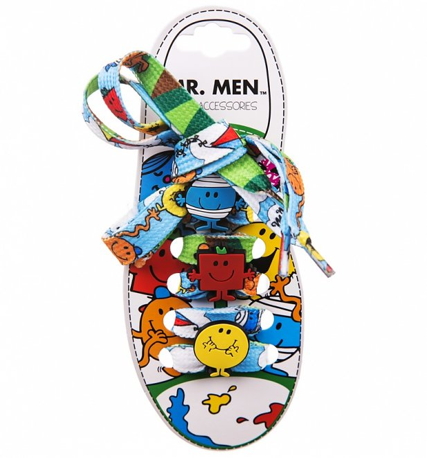Mr Men Shoelaces With Charms
