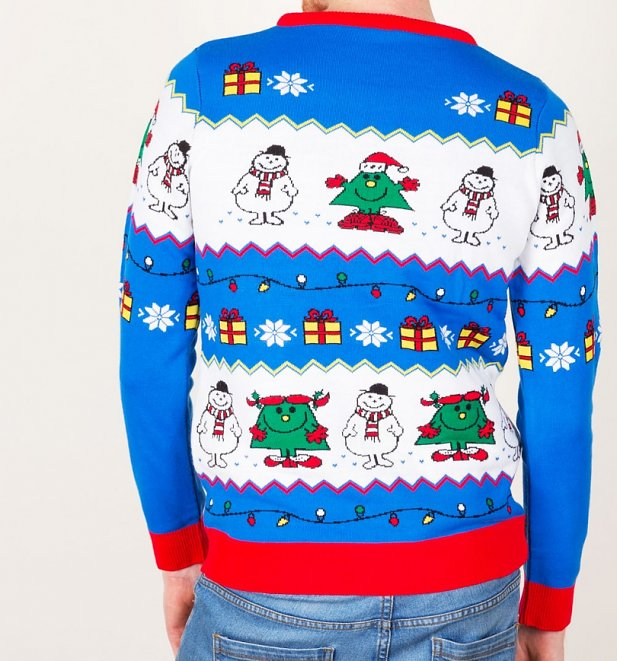 Mr Men and Little Miss Christmas Knitted Christmas Jumper