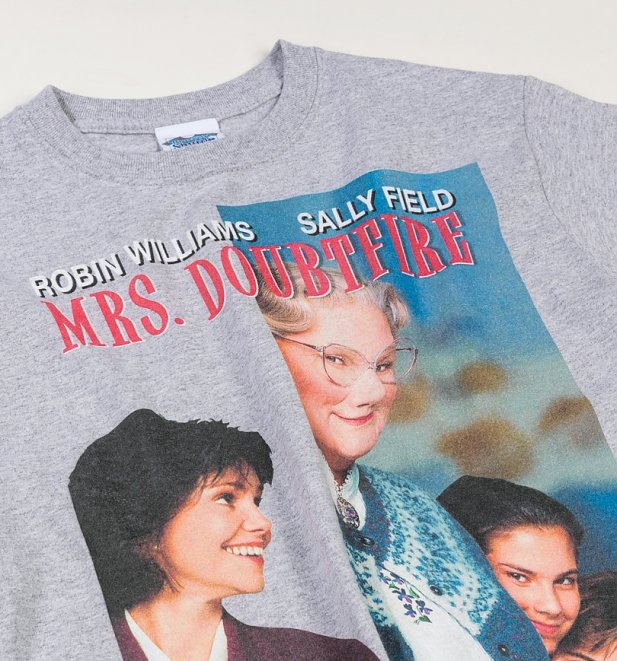 Mrs Doubtfire Movie Poster Grey T-Shirt