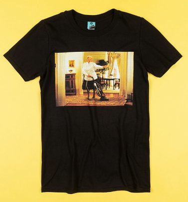 Mrs Doubtfire Scene Black T-Shirt