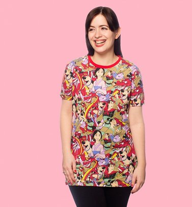 Mulan All Over Print T-Shirt from Cakeworthy