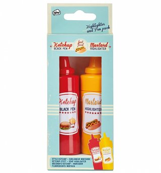 Mustard & Ketchup Pen & Highlighter Set