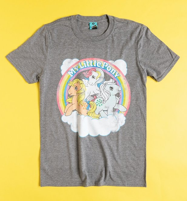 My Little Pony Cloud Scene Grey Marl T-Shirt