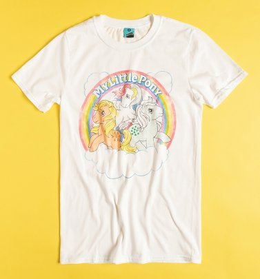 AWAITING APPROVAL IMAGERY SENT 30/6 My Little Pony Cloud Scene White T-Shirt