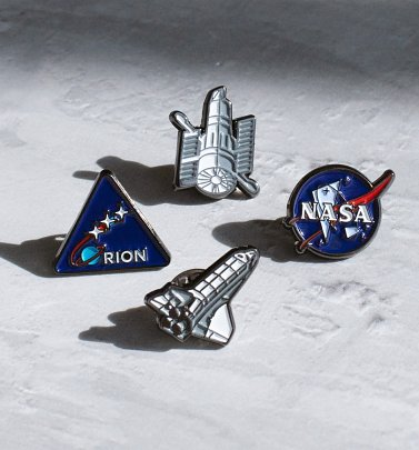 NASA Enamel Pin Badge Set