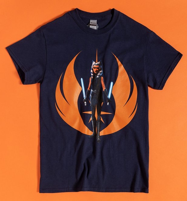 Navy Blue Star Wars Ahsoka Tano T-Shirt