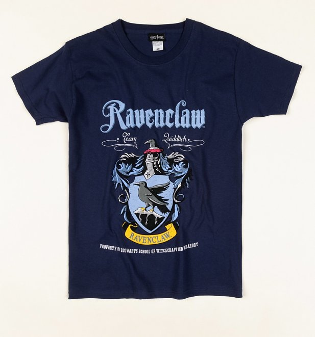 Navy Harry Potter Ravenclaw Crest T-Shirt