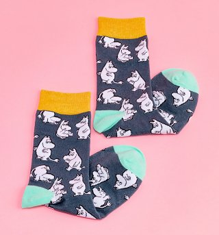Navy Moomin Socks