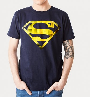 Men's Navy Superman Logo T-Shirt from For Love & Money