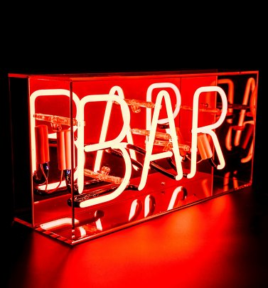 Neon BAR Acrylic Box Light