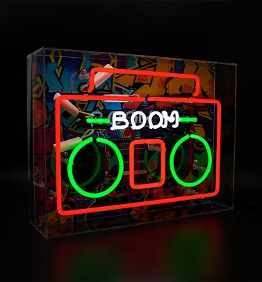Neon Boombox Acrylic Box Light