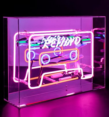 Neon Cassette Acrylic Box Light