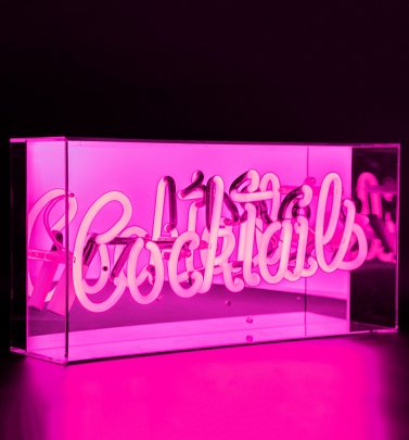Neon Cocktails Acrylic Box Light