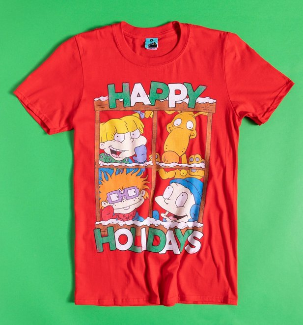 Nickelodeon Rugrats Happy Holidays Red T-Shirt