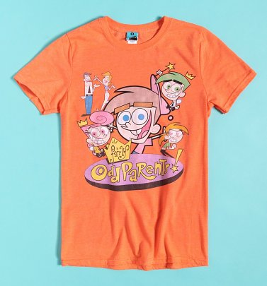 Nickelodeon The Fairly OddParents Orange Marl T-Shirt