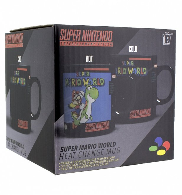 Nintendo SNES Super Mario World Heat Change Mug