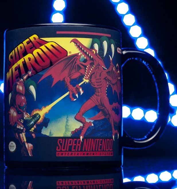 Nintendo SNES Super Metroid Heat Change Mug