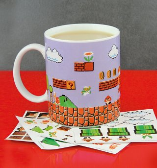Nintendo Super Mario Brothers Build A Level Mug