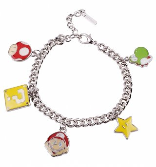 Nintendo Super Mario Brothers Characters Charm Bracelet