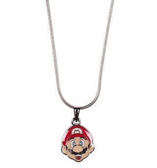 Nintendo Super Mario Brothers Mario Face Pendant Necklace