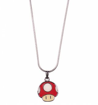 Nintendo Super Mario Brothers Mushroom Pendant Necklace