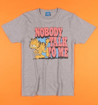 Nobody Talk To Me Grey Garfield T-Shirt