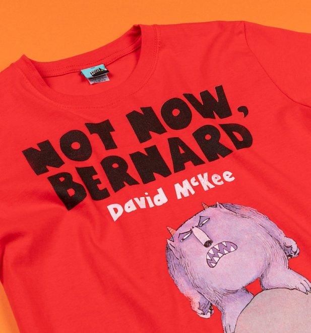Not Now Bernard Book Cover Red T-Shirt