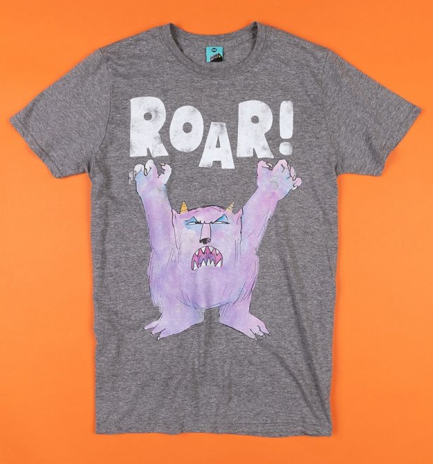 Not Now Bernard Roar! Grey Marl T-Shirt
