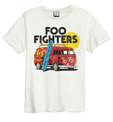 Off White Foo Fighters Camper Van T-Shirt from Amplified
