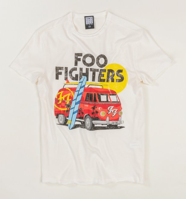 Vintage White Foo Fighters Camper Van T-Shirt from Amplified