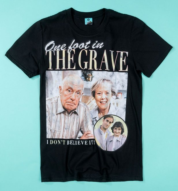 One Foot In The Grave Black T-Shirt