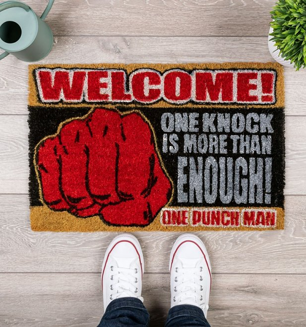One Punch Man One Knock Door Mat