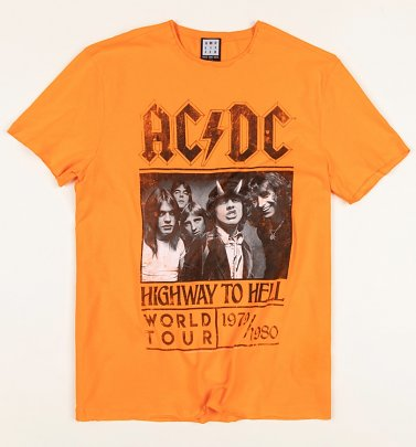 Orange AC/DC Highway To Hell T-Shirt from Amplified