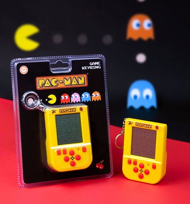 Pac-Man Game Keyring