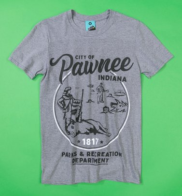 Parks And Rec Inspired City Of Pawnee Grey T-Shirt