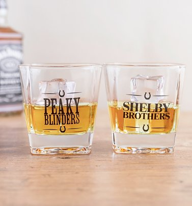 Peaky Blinders Set Of Two Whiskey Glasses