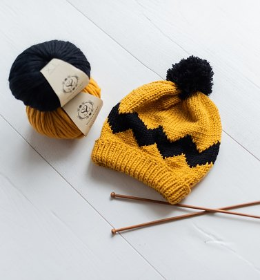 Peanuts Charlie Brown Hat Knitting Kit from Stitch & Story