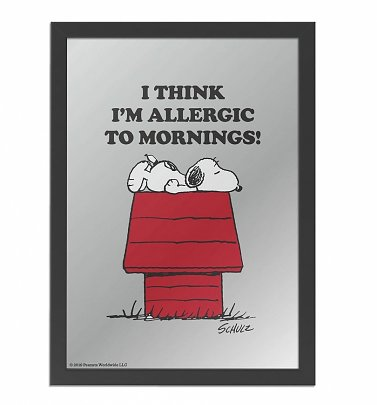 Peanuts Snoopy Allergic To Mornings Mirror