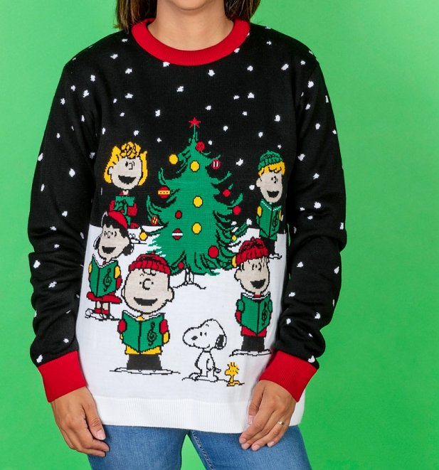 eanuts Snoopy Knitted Christmas Jumper