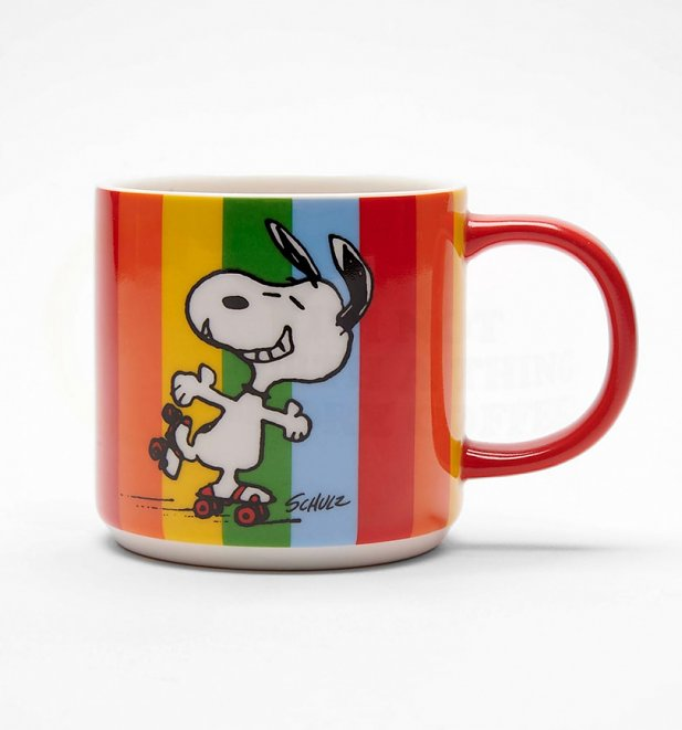 Peanuts Snoopy Let The Good Times Roll Rainbow Mug
