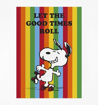 Peanuts Snoopy Let The Good Times Roll Rainbow Tea Towel