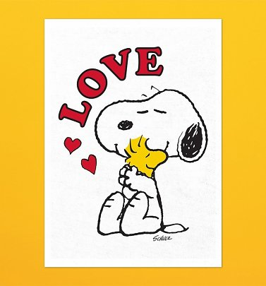 Peanuts Snoopy Love Tea Towel