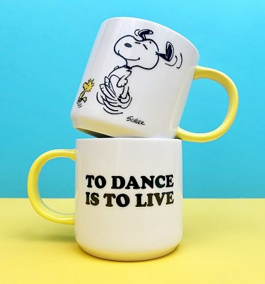 Peanuts Snoopy To Dance Is To Live Mug