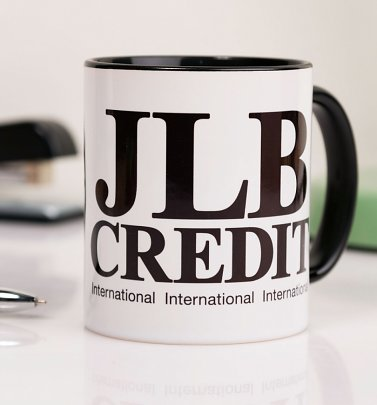 Peep Show Inspired JLB Credit Black Handle Mug