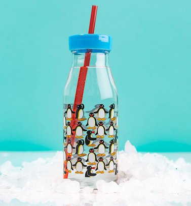 Pingu Bottle With Straw