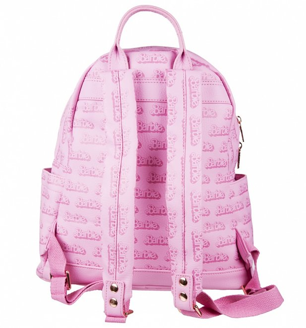 Pink Barbie Logo Backpack