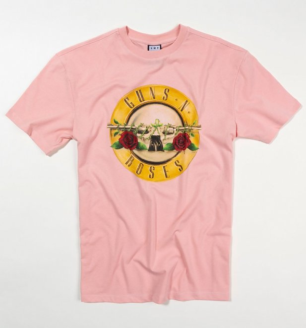 Pink Classic Guns N' Roses Drum T-Shirt from Amplified