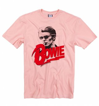 Pink New Romantic David Bowie T-Shirt from Amplified