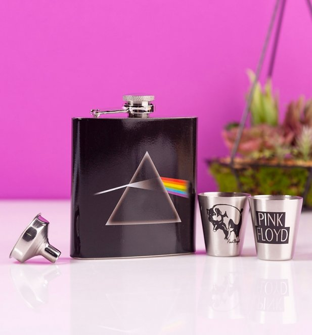 Pink Floyd Dark Side Of The Moon Hip Flask Gift Set